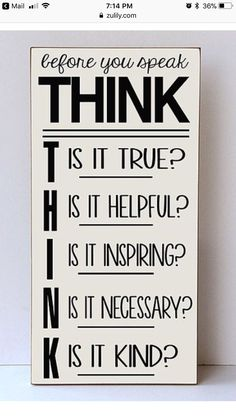 THINK true helpful inspiring necessary kind