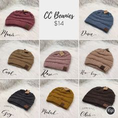 CC Beanies in a variety of colors! 😍 $14