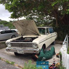 Okinawa Lowes (Garret Okinawa) Transporter. 1965y Ford Falcon Wagon.