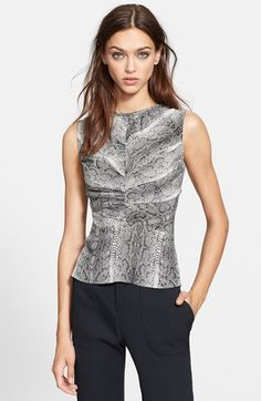 The Kooples Python Print Silk Top available at #Nordstrom