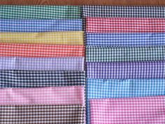 "New 1/8"" Gingham Polycotton 15 colours 45"" wide £3.20 per mtr free post 