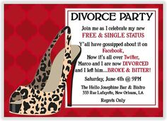 Image Search Results for divorce party invitations Definitely