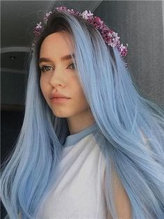 Wig Type: Synthetic Lace Front Wig Materials: Heat Resistance Silk Hair Length: 24 Inch Hair Color: Black to Blue Hair Density: 150% Heavy Hairline: Natural Hairline Lace Color: Light Brown Lace Material: Swiss Lace Cap Size: Average Cap Construction: Glueless Lace Cap