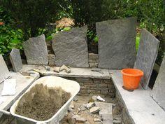 Stone Art Blog: Stone seats, the building process.