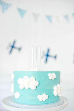Liam's Airplane Birthday (MH by Monika Hibbs) Airplane Birthday Cakes, Boys First Birthday Cake, Birthday Ideas For Her, Birthday Fun, Birthday Parties, Third Birthday, Airplane Party, Princess Birthday, Time Flies Birthday