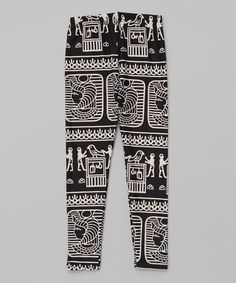 Love this Black Ancient Egypt Cropped Leggings by Zoe on #zulily! #zulilyfinds