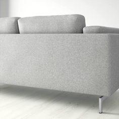 IKEA NOCKEBY, Bezug 2er Sofa Mit Récamiere, Rechts, Tallmyra Weiß/schwarz