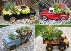3. Go for a mini toy car planter. - Truck or Tractor Inspired Home Projects You Would Say WOW