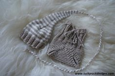 Long baby hat and diaper cover