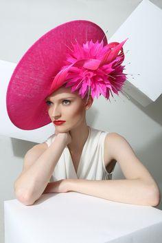 Philip Treacy London | Neon Slice | Fuchsia and Wide Brim Hats | LOVEHATS.COM