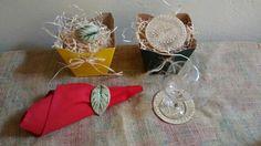 Porta copos e guardanapos em ceramica by Rosi Laia