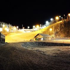 A view of the ski slopes in Ruka, Finland  It was an amazing holiday and I love snowboarding :)