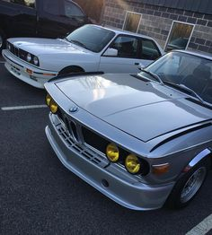 Two Classics. Which one would you drive?  #bmw #e30 #m3 #3.0csl #30csl #batmobile #bmwclassic #mpower #roundels #kidneys #bmwlove #bmwnation #turnerparts #turnermotorsport by turnermotorsport