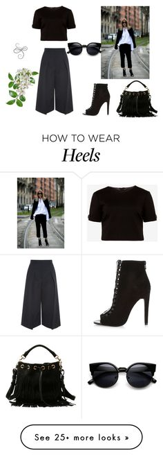 """""""Untitled #2035"""" by doinacrazy on Polyvore featuring Erdem, Ted Baker, River Island, Yves Saint Laurent, women's clothing, women, female, woman, misses and juniors"""