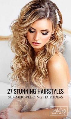 27 Stunning Summer Wedding Hairstyles ❤ Summer wedding hairstyles are different, because brides have many options for long hair or medium hair.