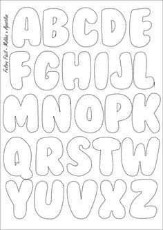 Feltro Fácil: Molde do Alfabeto | Felt Letters Template: