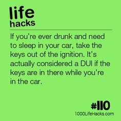 The best DIY projects & DIY ideas and tutorials: sewing, paper craft, DIY. Ideas About DIY Life Hacks & Crafts 2017 / 2018 The post – Don't Keep Your Keys In The Ignition If You're Drunk appeared first on 1000 Life Hacks. Car Life Hacks, Hack My Life, Survival Life Hacks, 1000 Life Hacks, Car Hacks, Simple Life Hacks, Useful Life Hacks, Hacks Diy, Survival Skills