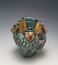 Angels by Lilia Venier: Ceramic Vase available at www.artfulhome.com