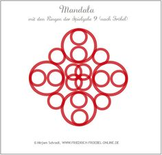 Mandala aus den Ringen der Spielgabe 9 nach Friedrich Froebel (Mandala Nr. 16 von insg. 16) Froebel: Forms of Beauty (Schönheitsformen)