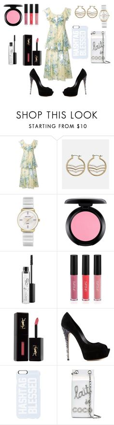 """Elegant Style"" by hillarymaguire ❤ liked on Polyvore featuring Alice McCall, Avenue, Anne Klein, MAC Cosmetics, Sigma, Yves Saint Laurent, Casadei, Private Party and Chanel"