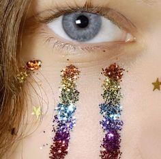 Rainbow glitter makeup x