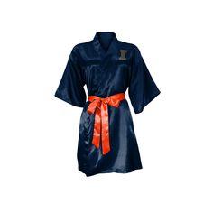 NCAA Illinois Fighting Illini Little Earth Satin Kimono - S/M, Size: Small