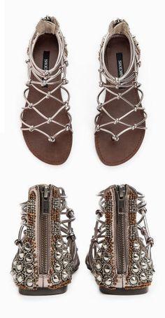 Boho Studded Gladiator Sandals <3 Loving the Detail on these!