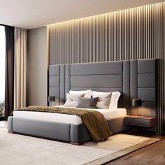 Contemporary Bedroom Interior Design That Very Cozy 04 Realivin Luxury Bedroom Design, Master Bedroom Design, Luxury Interior Design, Design Interiors, Modern Luxury Bedroom, Trendy Bedroom, Bedroom Designs, Contemporary Bedroom Furniture, Modern Master Bedroom