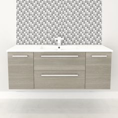 Cutler Kitchen & Bath Silhouette Collection 48-in Wall Hung Vanity with Top - FV ZAMBUKKA48   ATG Stores