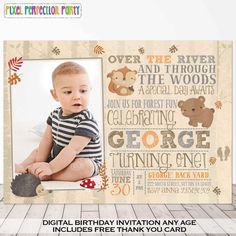 Woodland Invitation Woodland Birthday by PixelPerfectionParty