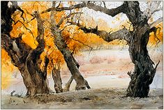 Fine Giclees - Archival Quality Prints of Guan Weixing Watercolor Paintings by Ambleside Gallery — Guan Weixing Watercolor Trees, Watercolor Landscape, Watercolor Paintings, Watercolours, Landscape Photos, Landscape Art, Landscape Paintings, Impressionist Landscape, Landscape Design