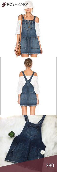 c8bdb4e867c Tularosa Sophia Overall Dress in Laguna Blue Jean Super cute! Brand new  with tags.