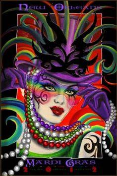 mardi gras poster 2012   JazzyStuff.com presents Mistretta 2012 Mardi Gras Poster