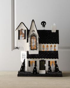 Black & White Halloween House at Horchow.