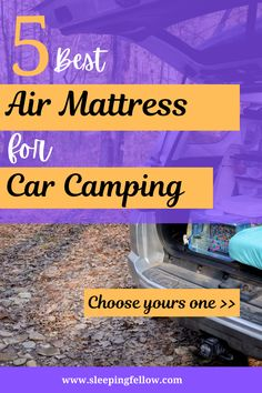 Air mattresses are lightweight and foldable. It can give you a hassle-free sleep experience for both camping and long travel. Let's choose your best air mattress for car camping experince . We are Sleepingfellow team, the sleep experts! Love to share the best tips & trick on how to have a well rested night, healthy sleep tips, sleep health hacks, product info & reviews for better sleep! www.sleepingfellow.com #bestairmattress #campingmattress #carcamping Bed Designs Latest, Best Bed Designs, Double Bed Designs, Camping Pillows, Camping Mattress, Mattress Cleaning, Mattress On Floor, Air Mattress, Bed Designs With Storage