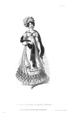 Half Mourning Evening Dress from Ackermann's Repository of the Arts January 1819