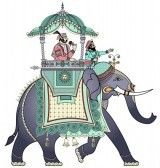 Vector illustration of a decorated Indian elephant Poster. Indian Elephant Art, Elephant Images, Royal Animals, Elephant Poster, Free Motion Embroidery, Embroidery Ideas, Applique Ideas, Hand Embroidery, Elephants Photos