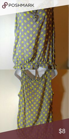 Cute Yellow Polka Dot Cato Top Sz XL Cato Top Cato Tops Tunics