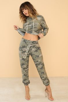Duty Calls Co-ord Set - Camouflage - Lola Shoetique Camouflage, Autumn Winter Fashion, Fall Winter, Co Ord Sets, Fashion Heels, Fashion Forward, Bring It On, Sporty, Clothes For Women