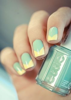 mint green nail polish#design #design #polish #nail #nailart #art #polish #nailpolish #nails #women #girl #shine #style #trend #fashion #essie #yellow #mint #green #blue #pastel #color #colorful #colors