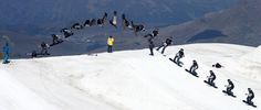 James Waterman Snowboard Backside Rodeo in Les Deux Alpes today.