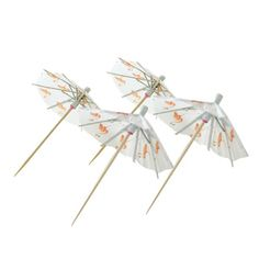 Flamingo Umbrella Picks Wedding Cupcake Toppers, Wedding Cupcakes, Cocktail Umbrellas, Alcoholic Drinks, Cocktails, Luau Theme, For Your Party, Party Drinks, Party Supplies