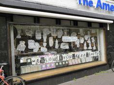 Homage to Keri Smith / window display / American Book Center, Amsterdam