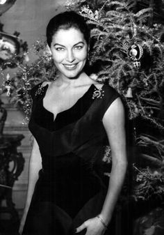Ava Gardner at Christmas - Ava was absolutely gorgeous to say the least!!!