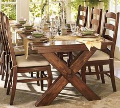 Shop toscana dining table from Pottery Barn. Our furniture, home decor and accessories collections feature toscana dining table in quality materials and classic styles. Dinning Room Tables, Dining Room Furniture, Table And Chairs, A Table, Dining Chairs, Wood Table, Picnic Table, Dining Sets, Dinning Table Wooden