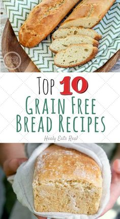 Top 10 Grain Free Bread Recipes That REALLY Taste Like Bread!- This collection of grain free bread recipes are some of the best you can find for fluffy and flavorful bread. If you are paleo or gluten free, look no further to satisfy your cravings! #grainf Best Paleo Recipes, Easy Cake Recipes, Bread Recipes, Whole Food Recipes, Sweets Recipes, Sin Gluten, Coconut Flour Cakes, Wheat Free Bread, Bread Alternatives