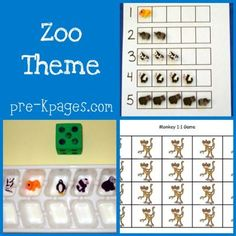 Zoo theme for Pre-K, Preschool and Kindergarten. Hands-on literacy and math activities, printables, and books for learning about zoo animals. Preschool Zoo Theme, Preschool Lesson Plans, Preschool Curriculum, Preschool Kindergarten, Preschool Printables, Zoo Activities, Teaching Themes, Childhood Education, Zoo Animals