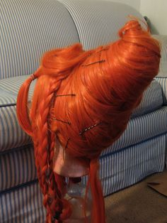 I've had a few people ask me about how I did my Flame Princess wig, and honestly, I made it up as I went. I started with: a Cosplay Wigs. Cosplay Wig Tutorial, Costume Tutorial, Cosplay Diy, Cosplay Makeup, Cosplay Ideas, Diy Costumes, Cosplay Costumes, Costume Wigs, Adventure Time Cosplay