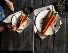 Butter Roasted Carrots with Thyme.