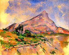 """Paul Cézanne (1839-1906) """" Montagne Sainte-Victoire """"."""